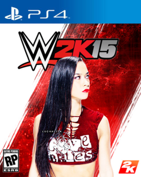 AJ Lee WWE2K15 cover edit by AbiMotionless