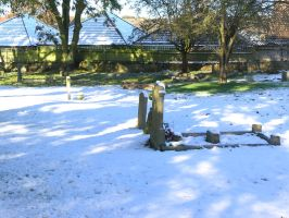 snow, churchyard  oct 29th 23 by dark-dragon-stock