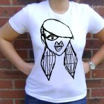 Roxy white t-shirt by Quirkz