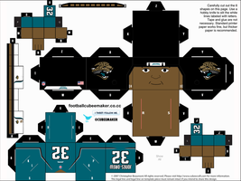 Maurice Jones-Drew Jaguars Cubee by etchings13