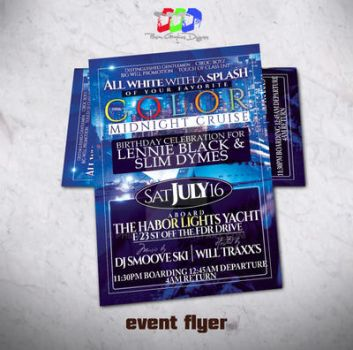 Colors Yacht affair Party Flyer by PhilVision