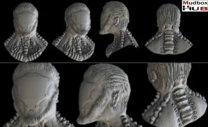 Alien Head Sculpt 02 by spybg