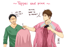 Teppei and pink by Jeannette11