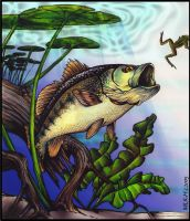 Largemouth Bass Commission by Ogra-the-Gob