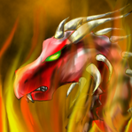 Fire dragon by Kayleigh-Kaz