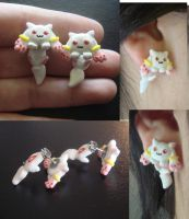 Kyubey Stud Earrings by KittyAzura