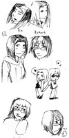 Ria and Richard doodles by SnowontheRadio