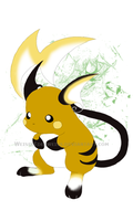 26 Pokemon  Green Raichu by WeisseEdelweiss