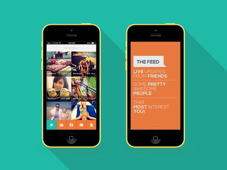 XXHDPI design for social app Android/iOS by lynxory