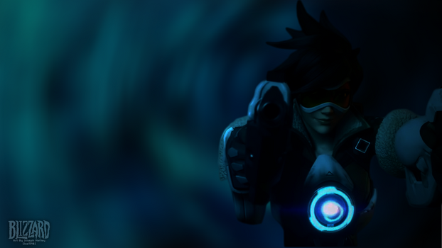 Overwatch Tracer HD Wallpaper by JoeTPB