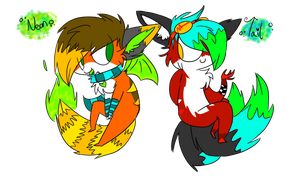OCS: Neon and Tail by sariasong64
