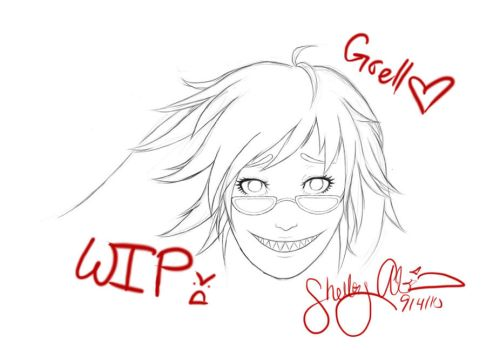 Grell Sutcliff--WIP by DiamondDropsOfMakai