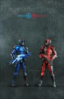 Mass effect - Red or Blue by shatinn