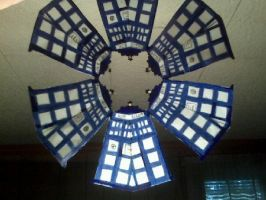 TARDIS Snowflake by beep3rocks