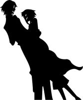 stein and medusa silhouet by Andie200