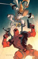 Deadpool VS Shatterstar by dcjosh
