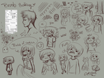 Sai Brush Setting and doodles by catclock
