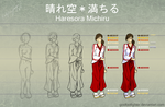 Michiru Step-by-Step Reference by goofoofighter