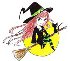 Chibi Witch by Opal-Heart126