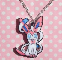Super Cute Sylveon Eeveelution pendant necklace by KawaiiMoon24