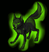 Animated wolf  adopt (i change colors/ glow)(open) by Terohime