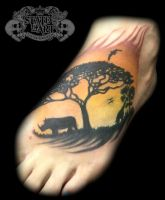 sunset by state-of-art-tattoo