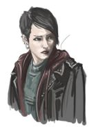 Lisbeth SALANDER speedpaint by TomLooming