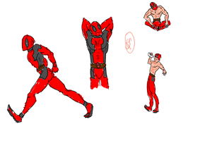 Deadpool Sketchies by XantheStar