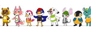 Animal Crossing residents by red-anteater