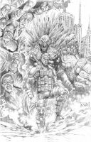 comics cover pencil IVC by clickstu75