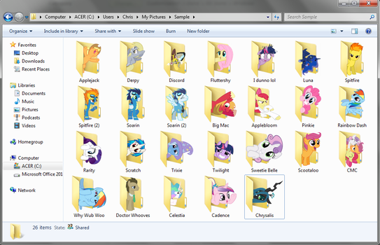 Pony Icon Pack 2 by Blues27Xx