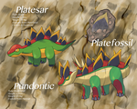Fossil line fakemon by Hyshirey