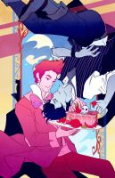 Downswept: Prince Gumball and Marshall Lee by flightangel