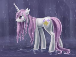 Fleur In The Rain by KP-ShadowSquirrel