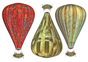 Steam Balloon PNG Stock by Jumpfer-Stock