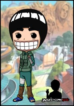 rock lee chibi by justcallmeBECK
