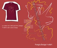 Ponyta T-shirt Design by UmbreoNoctie