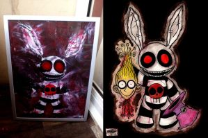 Follow the White Rabbit (Acrylic paint) by DV-Venom
