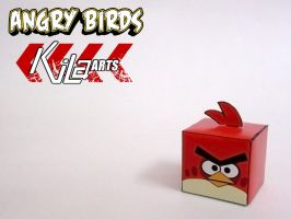 Red Angry Bird Cube 2 by dfordesmond