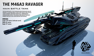 M46A3 Ravager Main Battle Tank (FULL HD) by Universe-of-Dusk