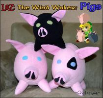 LoZ: Wind Waker Pigs by Cristophine