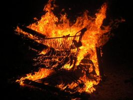cart on fire 2 by BarLevi