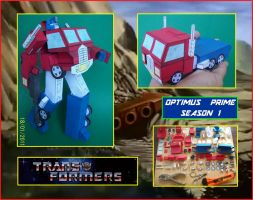 AUTOBOT-OPTIMUS-PRIME-Season1-made-in-cardboard by Paperman2010