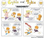 Cybie and Tykie - Insecurity by CyberPikachu