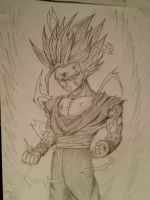 Gohan Super Sayian 2 by f2knight