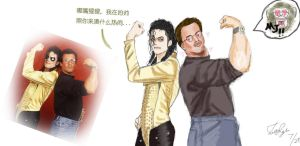 MJ and Stallone by Dew-Sama