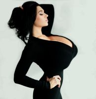 A lady has good posture by KittyRyder