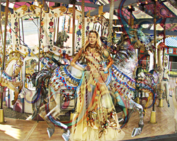 The Carousel Lady by GlendaWolfie