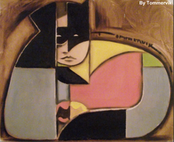 batman and robin painting abstract by TOMMERVIK