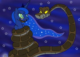 Kaa and Luna Redraw by lol20